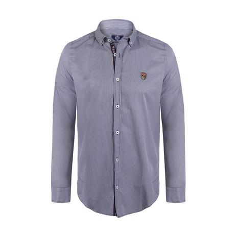 Robson Button Down Shirt // Dark Navy Plaid (S)