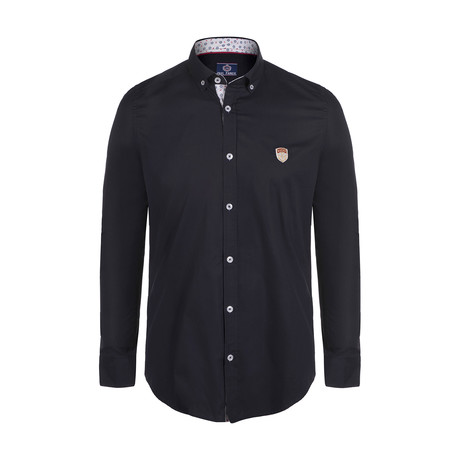 Pope Button Down Shirt // Navy (S)