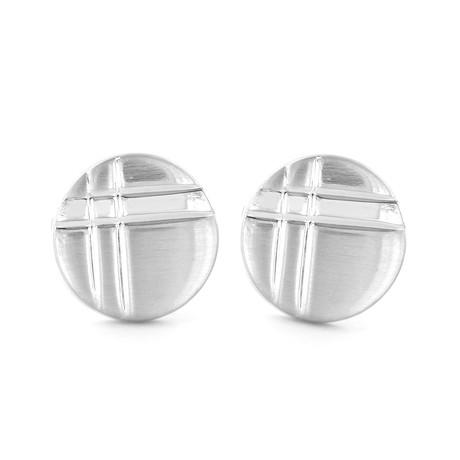 Engraved Round Cuff Links