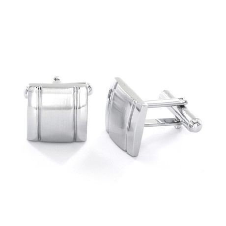 Grooved Square Cuff Links