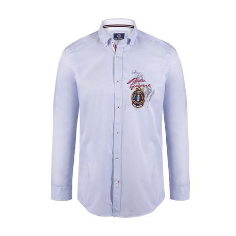 Rocco Button Down Shirt // Blue Stripe (S)