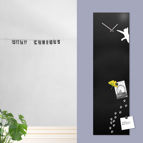 Cat Clock-Board (Black)