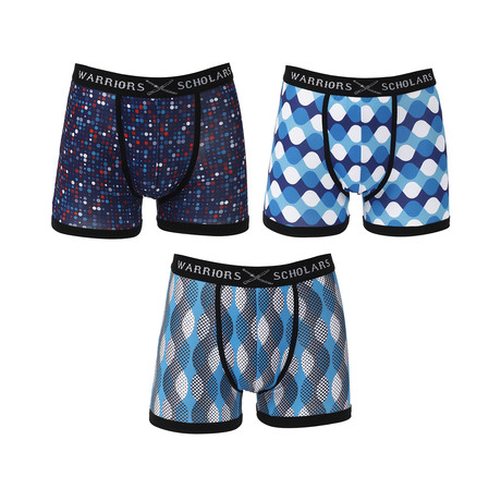 Flame Moisture Wicking Boxer Brief // Blue // Pack of 3 (S)