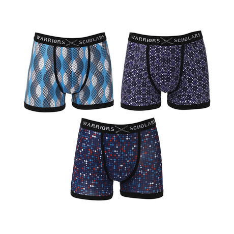 Canary Moisture Wicking Boxer Brief // Blue // Pack of 3 (S)