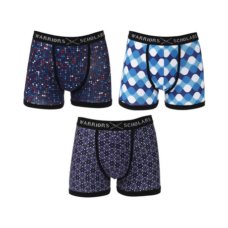 Champion Moisture Wicking Boxer Brief // Blue // Pack of 3 (S)