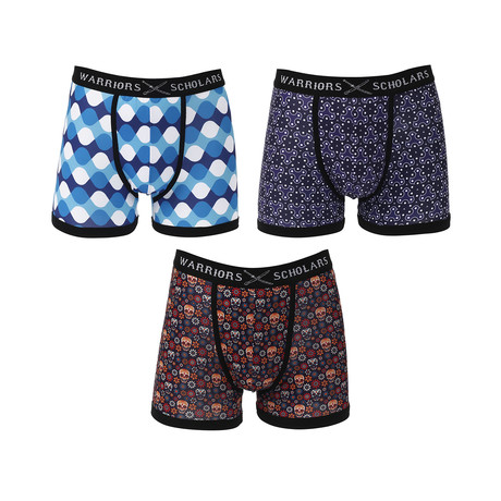 St. Kitts Moisture Wicking Boxer Brief // Blue // Pack of 3 (S)