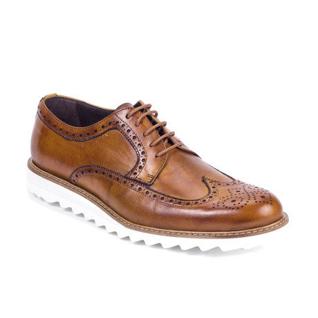 Crumbo Leather Derby // Light Brown (Euro: 42)