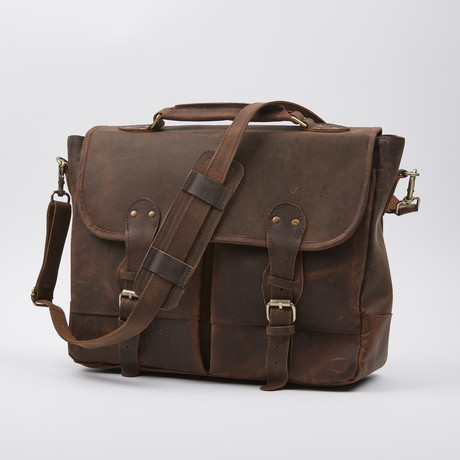 Satchel Bag Briefcase Style // Antique Brown