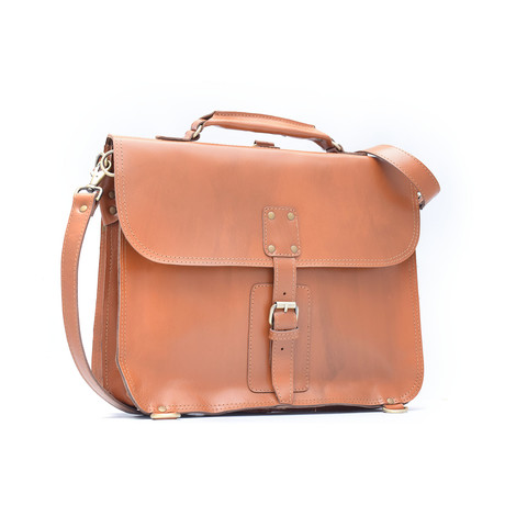 Thin Briefcase // Tan