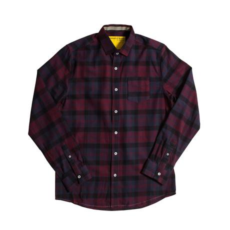 Heavy Flannel // Navy + Burgundy