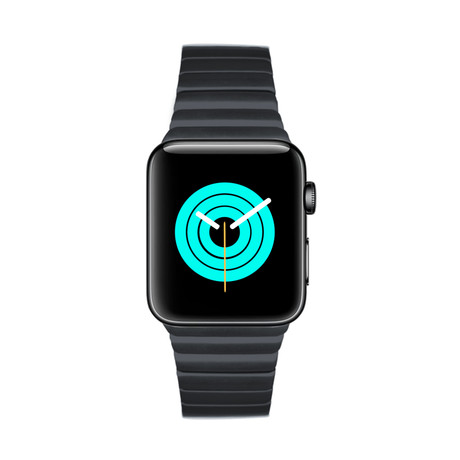 Apple Watch Link Bracelet // Space Black (38mm - 40mm)