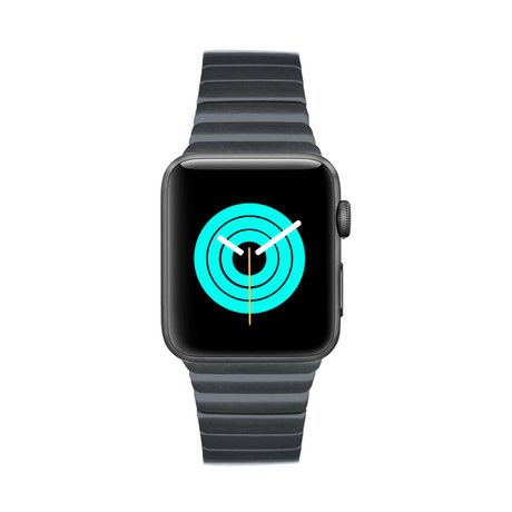 Apple Watch Link Bracelet // Space Grey (38mm - 40mm)