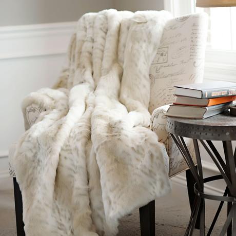 Limited Edition Faux Fur Throw // Lynx