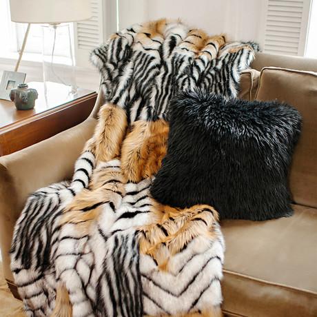 Limited Edition Faux Fur Throw // Melange Fox