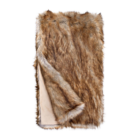 Limited Edition Faux Fur Throw // Tawny Fox