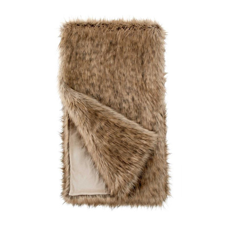 Limited Edition Faux Fur Throw // Tipped Fox