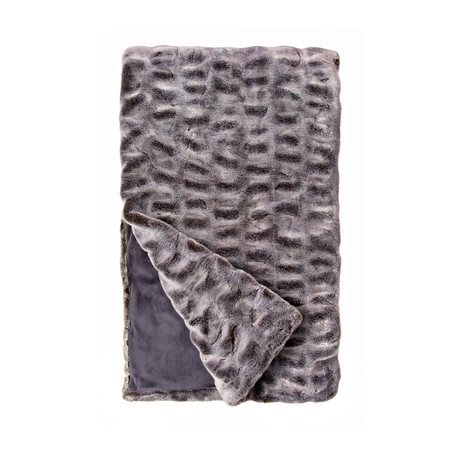 Couture Faux Fur Throw // Glacier Gray