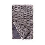 Couture Faux Fur Throw // Glacier Grey