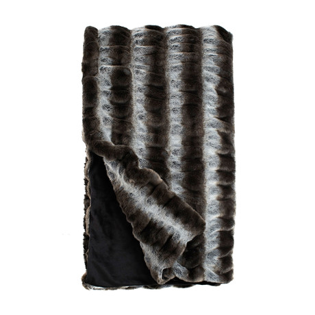 Couture Faux Fur Throw // Grey Chinchilla