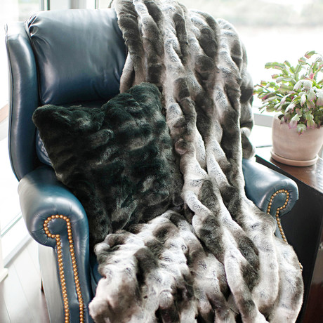 Couture Faux Fur Throw // Gray Chinchilla