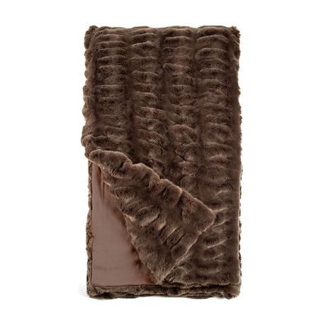 Couture Faux Fur Throw // Taupe Mink