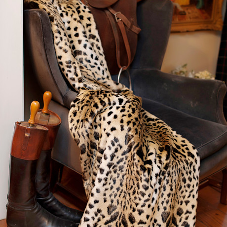 Signature Series Faux Fur Throw // Leopard
