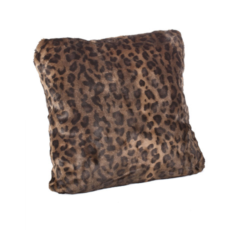 Couture Faux Fur Pillow // Panther