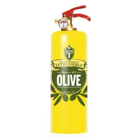 Safe-T Design Fire Extinguisher // Olive