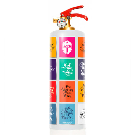Safe-T Designer Fire Extinguisher // Colorful Quotes