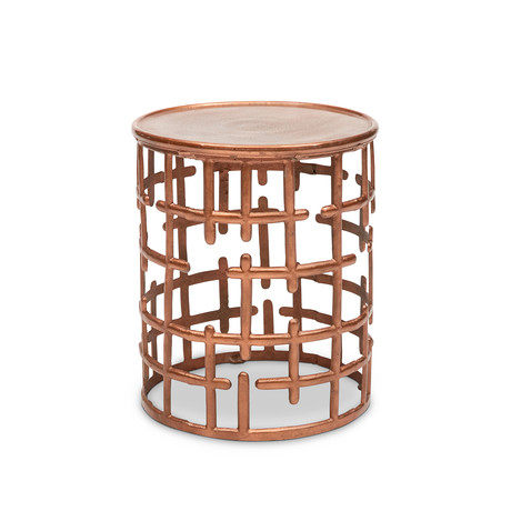 Kiaan Stool (Antique Brass)