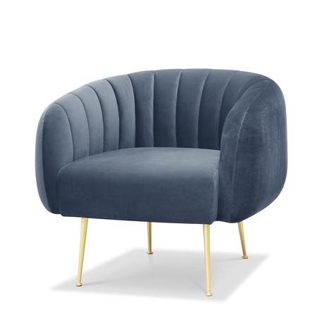 Channeled Accent Chair (Dark Green)