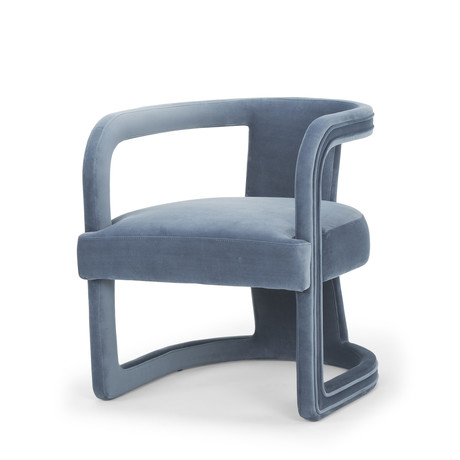 Rory Accent Chair (Dust Blue)