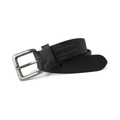 Frampton Genuine Leather Cut Edge Belt//Black (32)