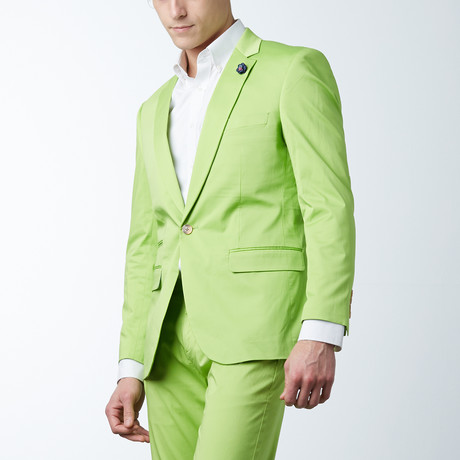 Solid Casual Blazer // Apple Green