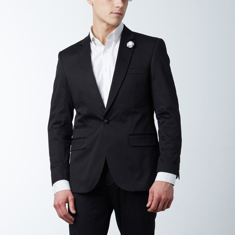 Solid Casual Blazer // Black (S)