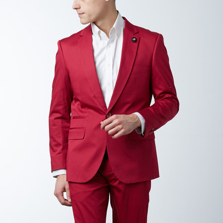Solid Casual Blazer // Berry (S)