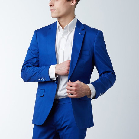 Solid Casual Blazer // Electric Blue (S)