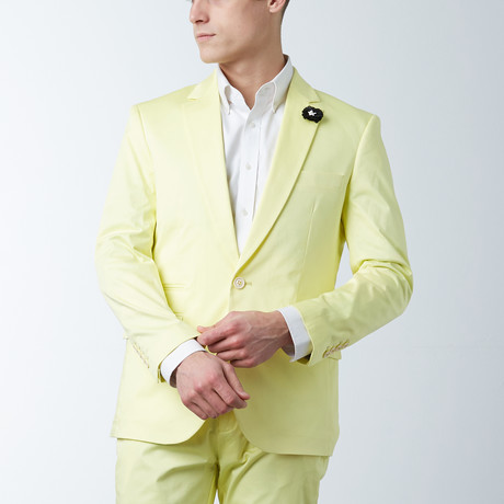 Solid Casual Blazer // Lemon (S)