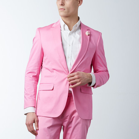 Solid Casual Blazer // Geranium Pink (S)