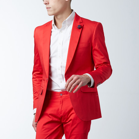 Solid Casual Blazer // Poppy Red (S)