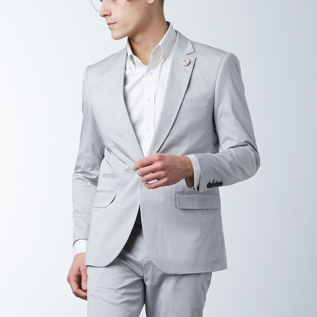 Solid Casual Blazer // Shell Gray (S)