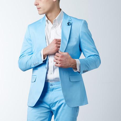 Solid Casual Blazer // Topaz (S)
