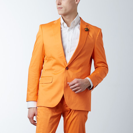 Solid Casual Blazer // Tangerine (S)
