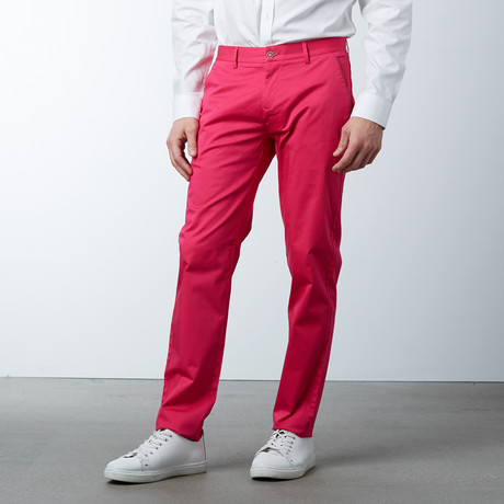Comfort Fit Casual Chino Pant // Azalea (30WX32L)