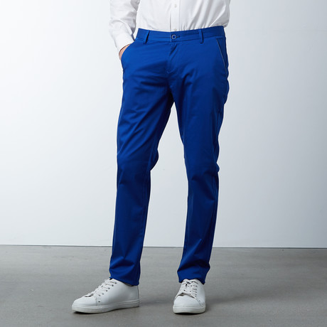 Comfort Fit Casual Chino Pant // Electric Blue (30WX32L)