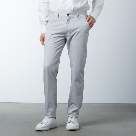 Comfort Fit Casual Chino Pant // Shell Grey (30WX32L)