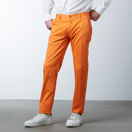 Comfort Fit Casual Chino Pant // Tangerine (30WX32L)