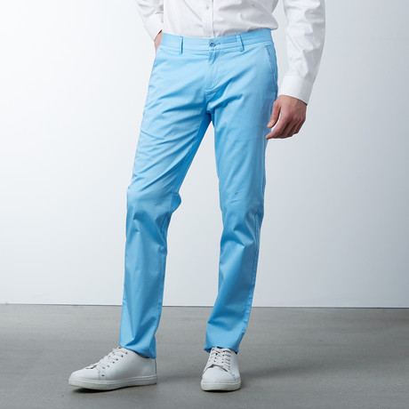 Comfort Fit Casual Chino Pant // Topaz (30WX32L)