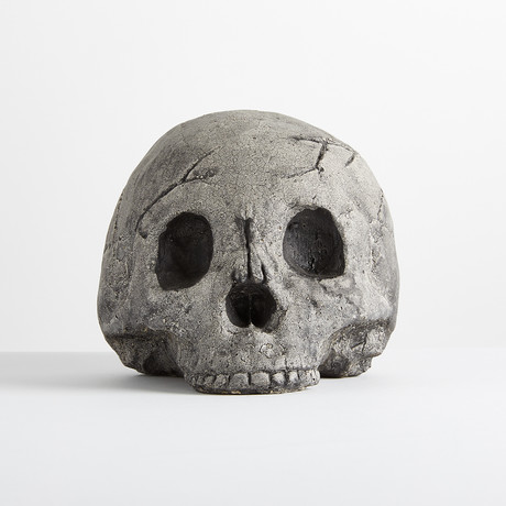 Ceramic Gray Skull Cap