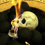 Ceramic Human Skull (Single)